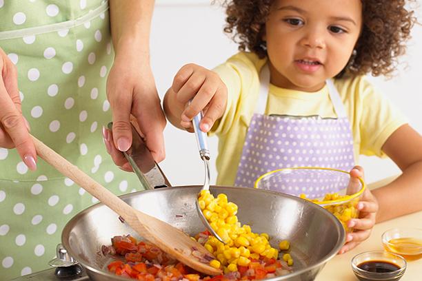 Cozinhar com as crianças