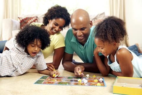 família jogando
