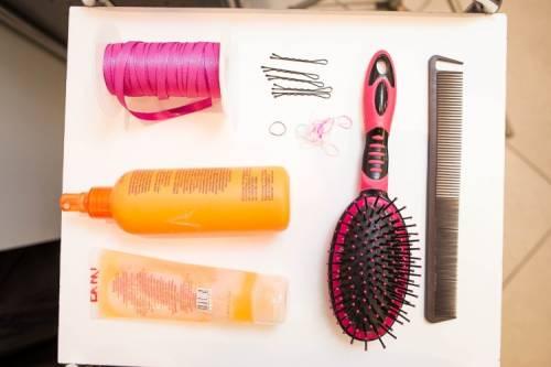 Materiais necessários para penteado